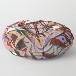 Confectionary- Colorful Abstract Mixed Media  Floor Pillow