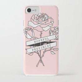 hopeful pessimist iPhone Case