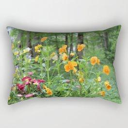Colorful Medow Rectangular Pillow