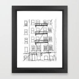 Brooklyn Alley Framed Art Print
