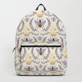 Queen Bee - Lavander Purple and Yellow Backpack