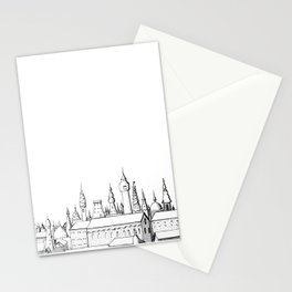 fabulous city . art . black and white Stationery Cards