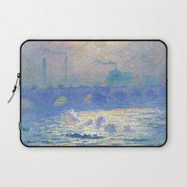 "Claude Monet ""Waterloo Bridge"" Laptop Sleeve"
