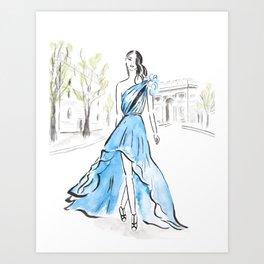 One Day In Paris Art Print