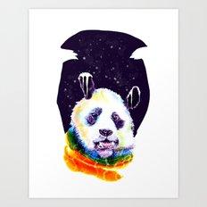 Panda Technicolor Art Print