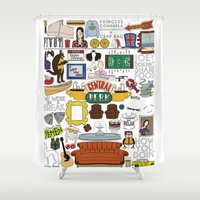 collage Shower Curtains featuring Collage by Loverly Prints