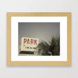 Park All Day Framed Art Print