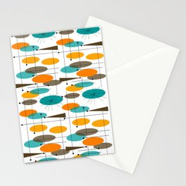 Mid-Century Modern Ovals Abstract II Stationery Cards