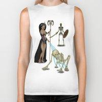 skeleton Biker Tanks featuring Skeleton by Egberto Fuentes