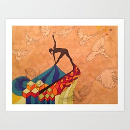Yoga Dove Art Print