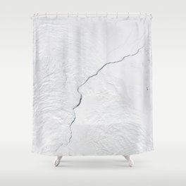 Open water lead above Canada, Arctic Ocean Shower Curtain