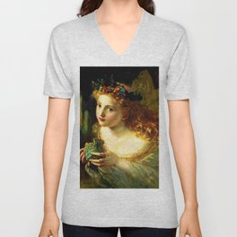 """Sophie Gengembre Anderson """"Take the Fair Face of Woman"""" Unisex V-Neck"""