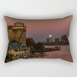 Moonrise in twiligh. Rectangular Pillow