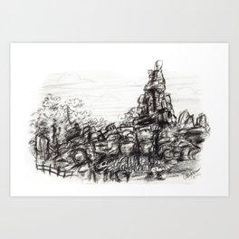 Big Thunder Mountain Art Print