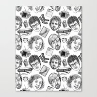 flight of the conchords Canvas Prints featuring Flight of the Conchords Pattern by Jillian Kaye