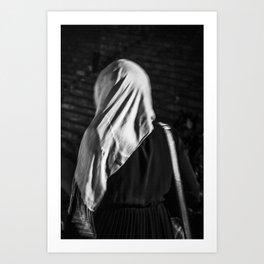 Muslim woman is walking Art Print