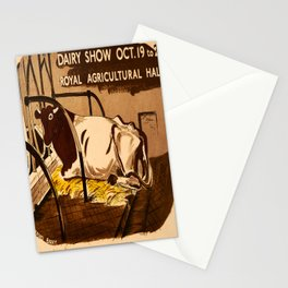 retro Dairy Show poster Stationery Cards