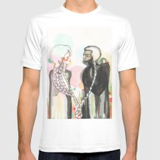 The Lovers White SMALL Mens Fitted Tee