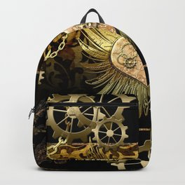 Steampunk, heart Backpack