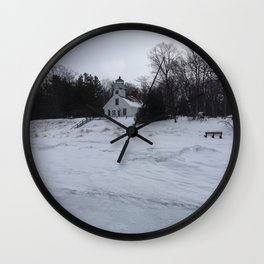 Old Mission Lighthouse Traverse City Michigan Wall Clock