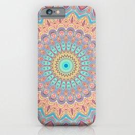 Jewel Mandala Faded - Mandala Design iPhone Case