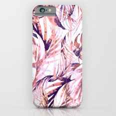 Coral Tropical Palms Slim Case iPhone 6