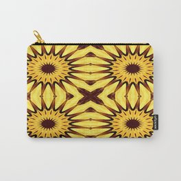 Sunflowers Yellow & Brown Pinwheel Flowers Carry-All Pouch