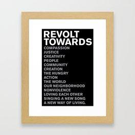 Revolt Towards (White) Framed Art Print