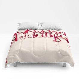 Awkward Beautiful, Silk Graffiti by Aubrie Costello Comforters