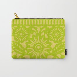 Papel Picado - Green + Yellow Carry-All Pouch