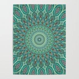 Mint Dreams Mandala Poster