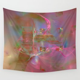 swimming in space Wall Tapestry