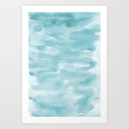 Sky-blue watercolors digital paper Art Print