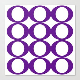 Purple Circles Canvas Print