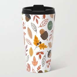 Hello Fall Pattern Travel Mug