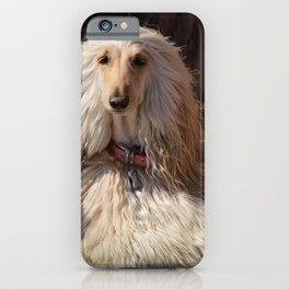 Afghan Hound Portrait iPhone Case