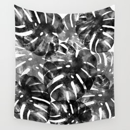 Tropical Monstera Leaf Print Wall Tapestry