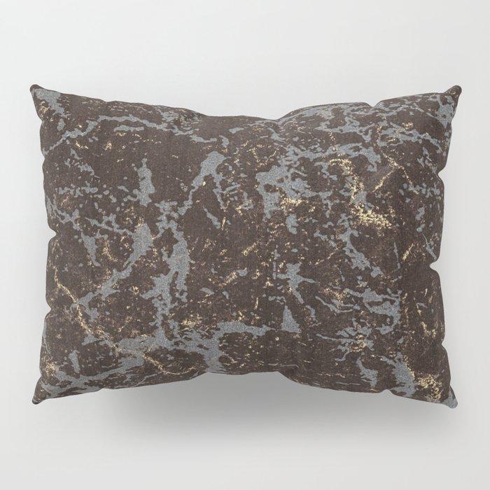 Crystallized gold stone texture Pillow Sham