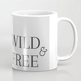 Grey Wild & Free Stag Traveller Deer Coffee Mug