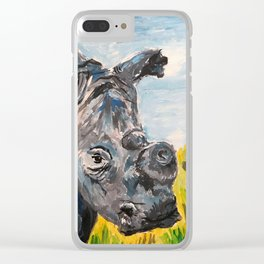 Rhino at Mankwe Clear iPhone Case