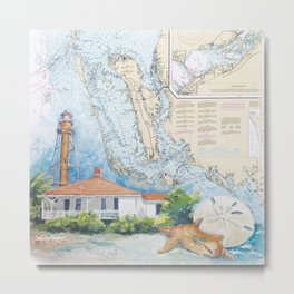 Sanibel Island, FL lighthouse Metal Print