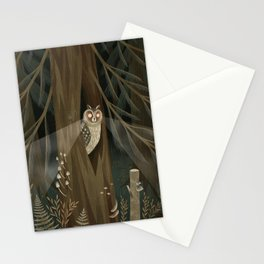 long-eared owl Stationery Cards