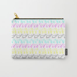 CMYK Unicorn Stripes Carry-All Pouch
