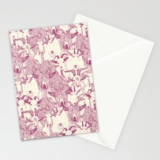 just goats cherry pearl Stationery Cards