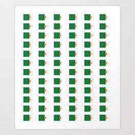 Flag of algeria 2 -algerian,algiers,camus,chaabi,oran,constantine,Annaba. Art Print