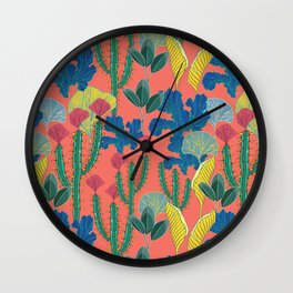 Tropical autumn Wall Clock