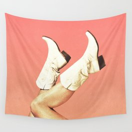 These Boots - Living Coral Wall Tapestry