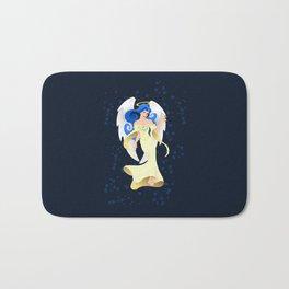 Blue Hair Angel Bath Mat