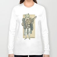banjo Long Sleeve T-shirts featuring Banjo Lion by Felis Simha