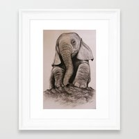 baby elephant Framed Art Prints featuring Baby Elephant by haleyivers